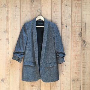 Zara Wool Blend Oversized Blazer